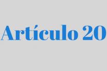 ARTÍCULO 20