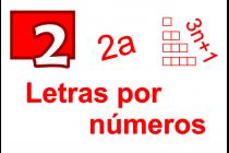 2 - Letras por números