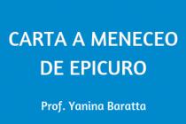 CARTA A MENECEO DE EPICURO