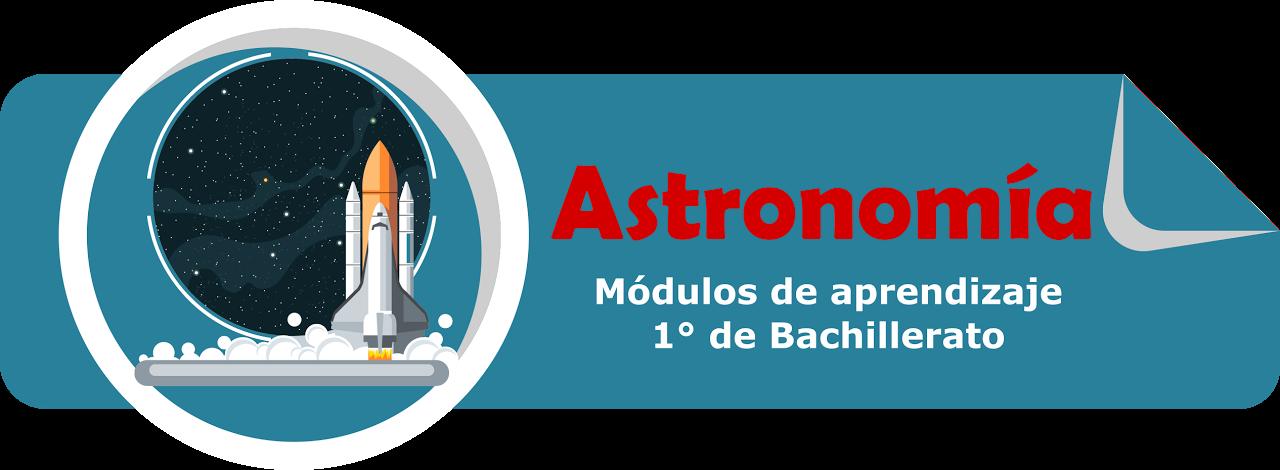 cartel módulos de astronomía de primero de bachillerato diversificado