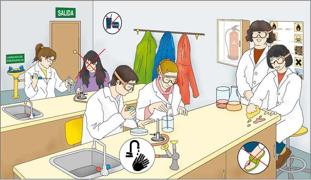 Resultado de imagen para normas de seguridad en el laboratorio escolar
