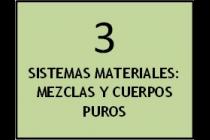 Sistemas materiales: mezclas y cuerpos puros