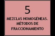 Mezclas homogéneas: métodos de fraccionamiento