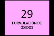 Formulación de óxidos