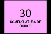 Nomenclatura de óxidos