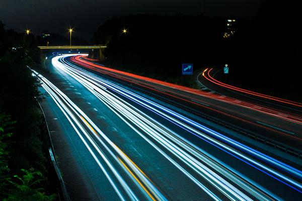 foto de larga exposición nocturna