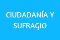 CIUDADANÍA Y SUFRAGIO