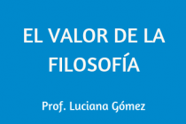 EL VALOR DE LA FILOSOFÍA
