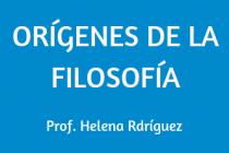 ORÍGENES DE LA FILOSOFÍA