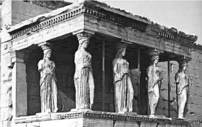 Estatuas llamadas Cariátides,